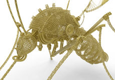 Wireframe mosquito Royalty Free Stock Photography