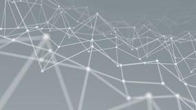 Wireframe network shape background 3D render. Wireframe network shape. Computer generated technology background. Abstract 3D render illustration Stock Images