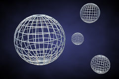 Wireframe planets Stock Images