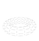Wireframe Polygonal 3D Torus. Wireframe polygonal element 3D Torus Isolated on White Background - Vector Royalty Free Stock Images