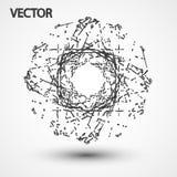Wireframe polygonal elements eps10. Vector elegant  shape illustration Royalty Free Stock Photo