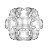 Wireframe Ported Cube. Cube of connected lines. Molecular lattice. The structural grid of polygons. Vector illustration sacred geometry Royalty Free Stock Photography
