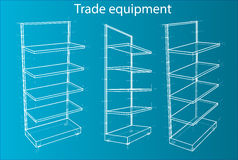 Wireframe Retail Shelves. Vector Royalty Free Stock Photo