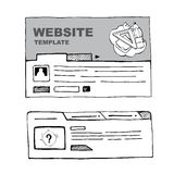 Wireframe sets Royalty Free Stock Photography
