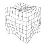 Wireframe siatki hałasu pudełko royalty ilustracja
