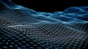 Wireframe - a skeletal three-dimensional model 3d illustration Stock Photography