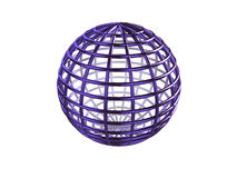 Wireframe Sphere Royalty Free Stock Image