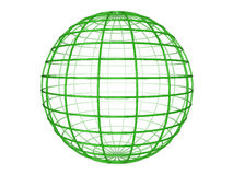 Wireframe sphere Stock Image