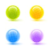 Wireframe spheres Royalty Free Stock Image