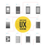Wireframe ux scheme Royalty Free Stock Photos