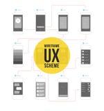 Wireframe ux scheme stock illustration