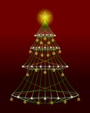 Wireframe Xmas Tree Stock Images