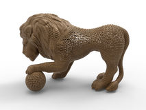 Wireframed lion statue Royalty Free Stock Image