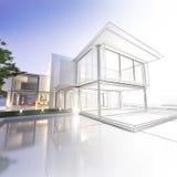 Wireframeherenhuis Stock Afbeelding