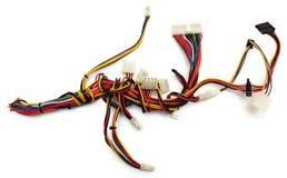 Wireharness do computador com conector fotografia de stock