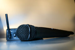 Wireles professional microphone Stock Image