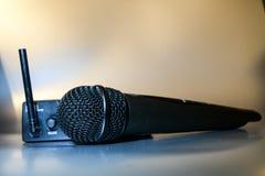 Wireles professionellmikrofon Fotografering för Bildbyråer