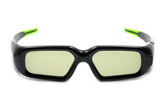 Wireless 3D glasses. On a white background Stock Photo