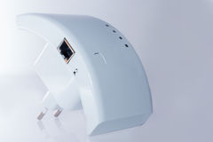 Wireless access point. Wi-fi repeater for communication with the Internet on  white background Stock Photos