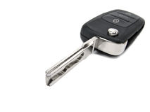 Wireless alarm car key. Isolated on white background stock photos