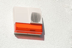 Wireless alarm system. External alarm. Part of a modern electronic alarm system Royalty Free Stock Photo