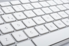Wireless aluminum keyboard detail Stock Photos