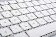 Wireless aluminum keyboard detail Stock Photos