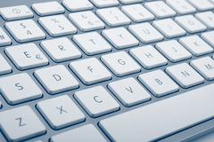 Wireless aluminum keyboard detail Stock Photography