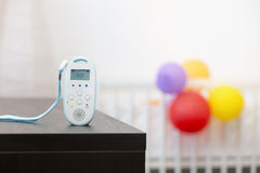 Wireless baby monitor device on the table. In room Stock Photos