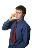Wireless Banana Phone Stock Image