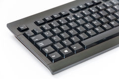 Wireless black computer pc keyboard Royalty Free Stock Photography