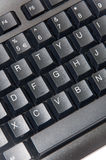 Wireless black computer pc keyboard Stock Image