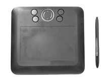 Wireless Black Drawing Tablet Stock Image