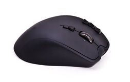 Wireless black laser computer mouse Stock Image