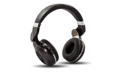 Wireless bluetooth headphone or earphone Royalty Free Stock Photo