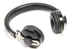 Wireless bluetooth headphone or earphone isolated. On white background Royalty Free Stock Image