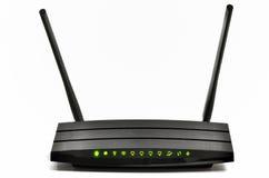 Wireless  broadband router. Wireless gigabit broadband router isolated Royalty Free Stock Photos