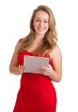 Wireless business woman Stock Images