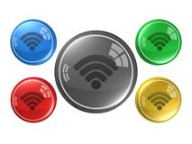 Wireless,button, 3d illustration. Wireless,button,best 3d illustration Royalty Free Stock Photography