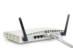 Wireless Cable/DSL Router Stock Image