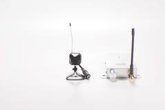 Wireless camera. Wireless surveillance camera with recevier Stock Photography