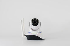 Wireless cctv cameras over white background Stock Photography