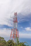 Wireless cell phone tower Royalty Free Stock Photography
