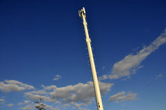Wireless Cell Phone Tower. Cellular Phone Tower for Wireless Mobile Phones Stock Photography