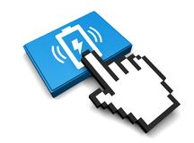 Wireless Charging Icon. 3D Illustration Wireless Charging Vector Icon Stock Images