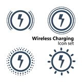 Wireless Charging Icon set. Vector illustration Stock Photography
