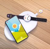 Wireless charging pad Stock Photography