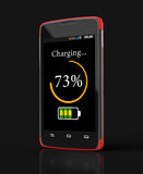 Wireless charging of smartphone (clipping path included) Stock Photography