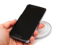 Wireless charging Stock Images