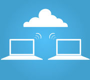 Wireless cloud Royalty Free Stock Photo